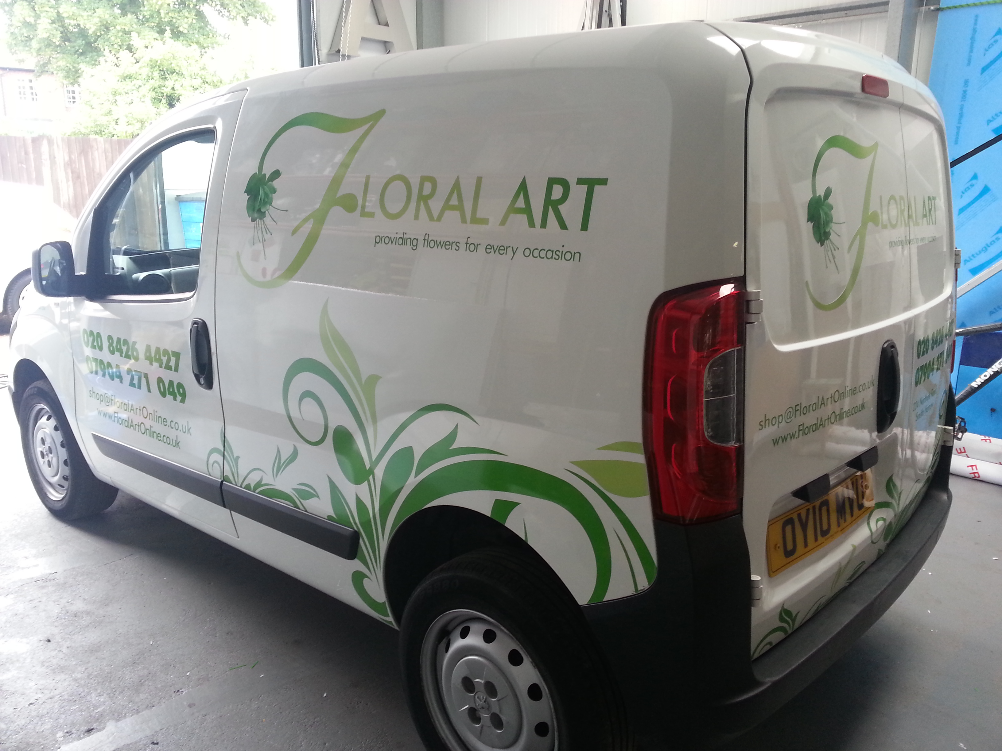 32e99ba9a3 Small Florist Van Graphic - Action Signs