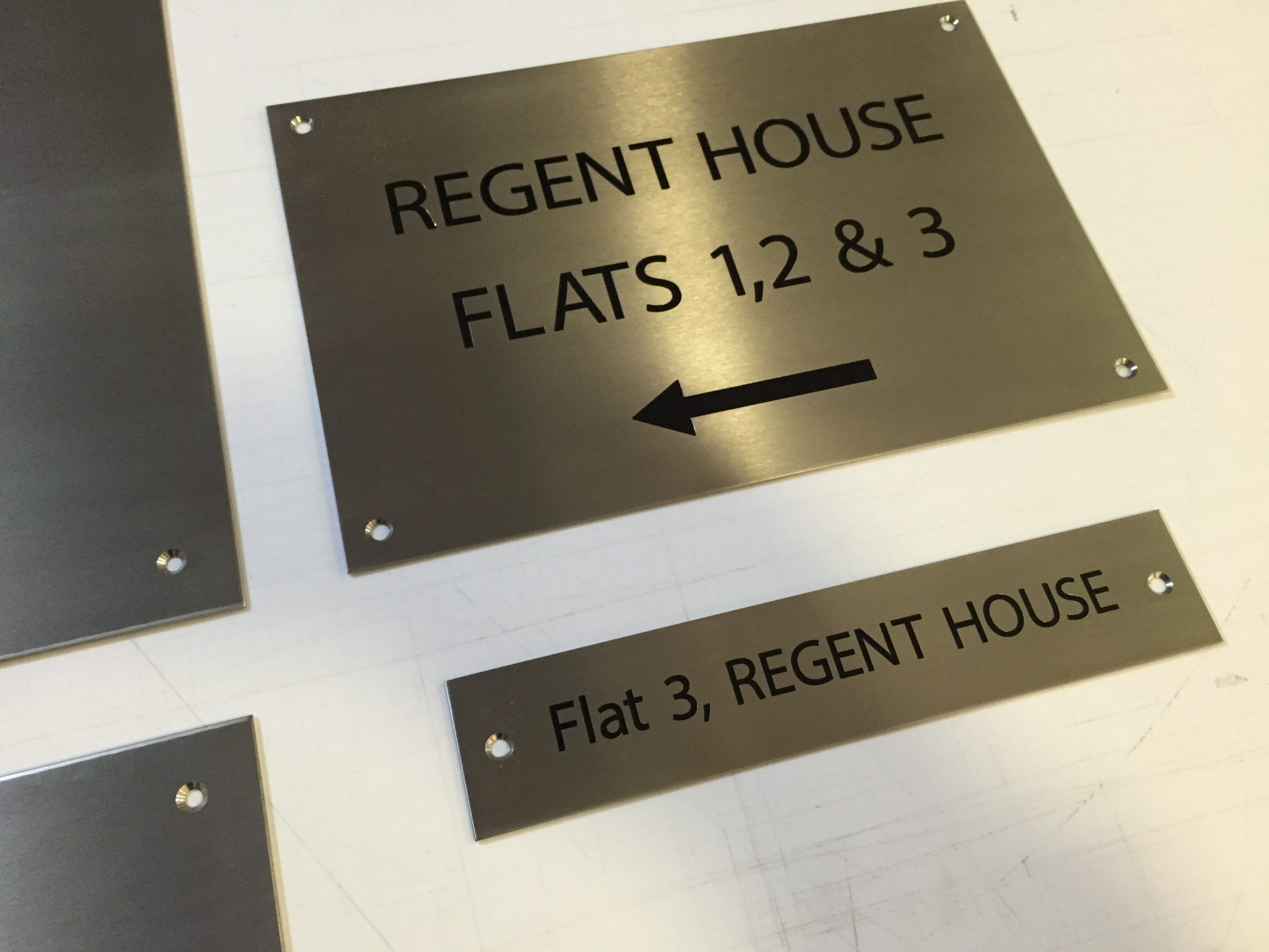 Directional Sign For Block Of Flats Action Signs