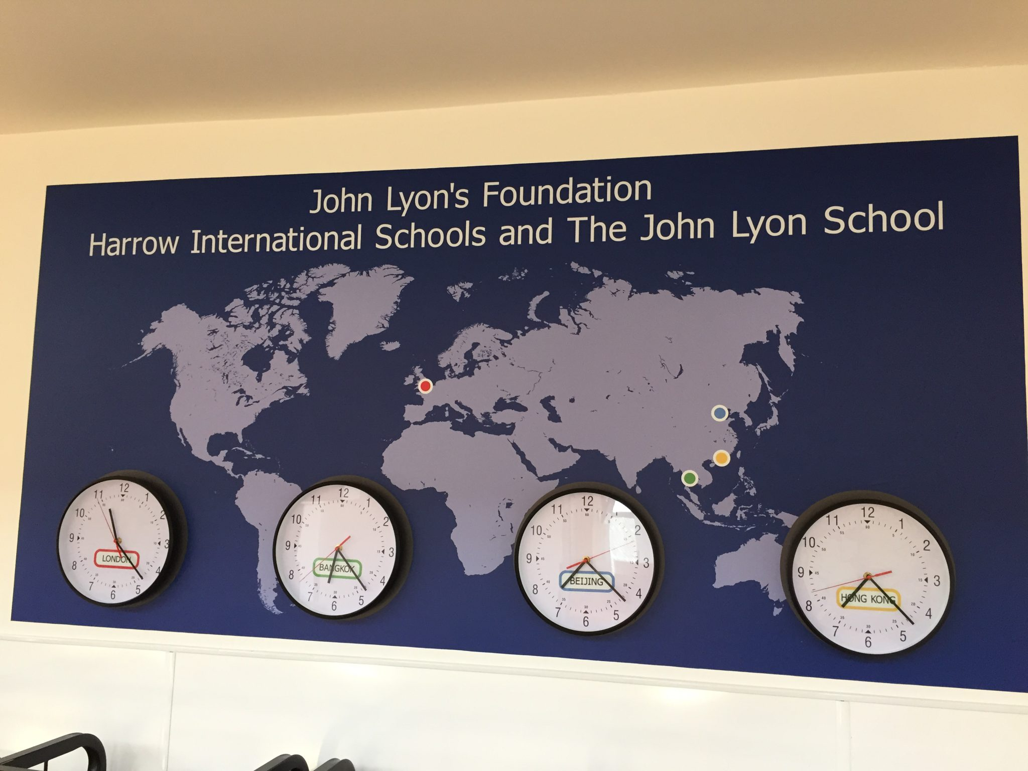 World Clock Display Wall John Lyon Action Signs