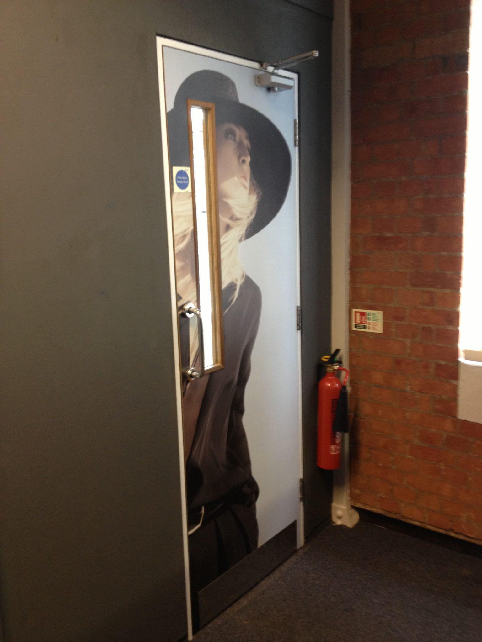 interior office door. Interior Office Door Wraps