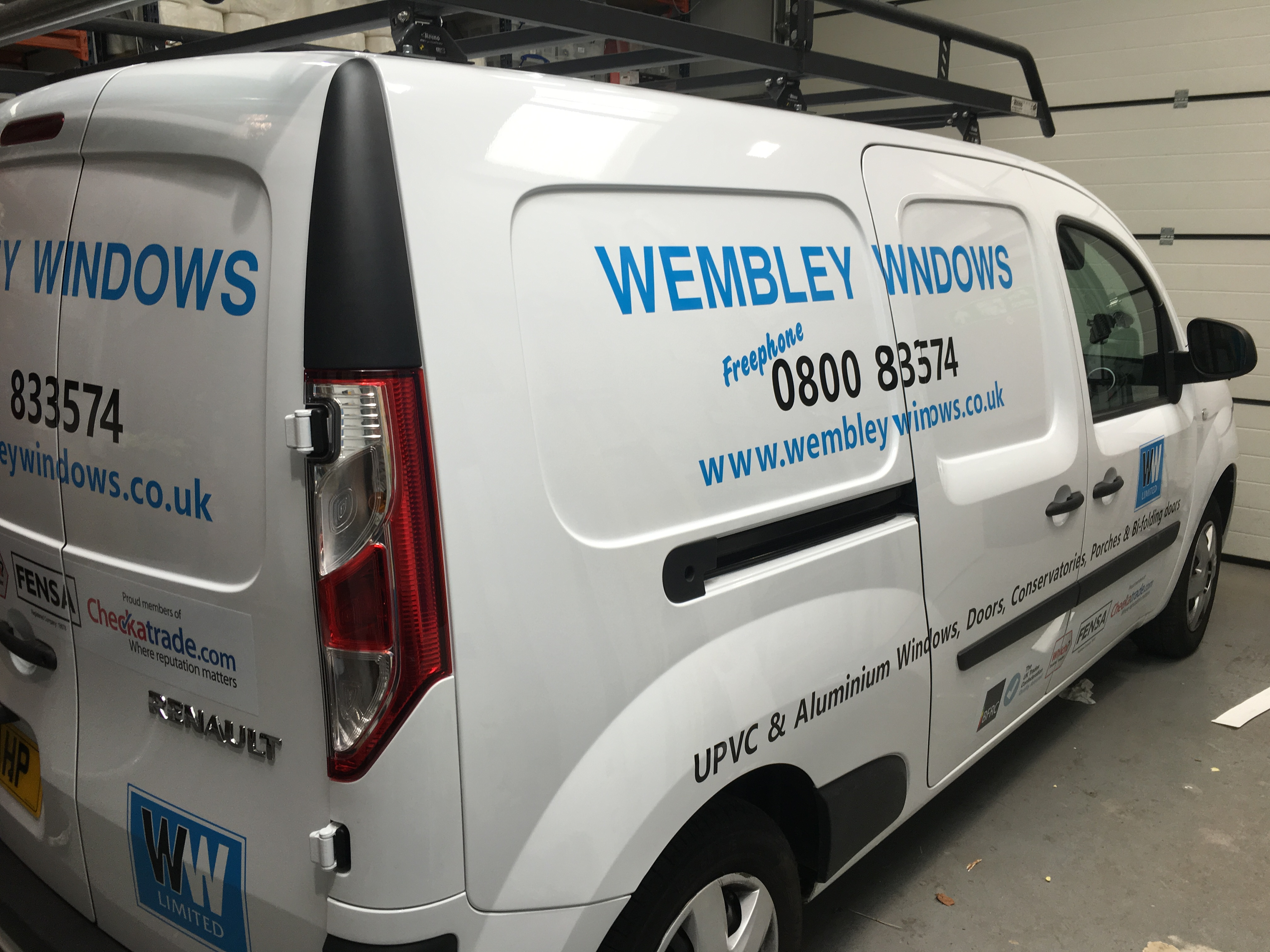 Window Fitter Van Sign Wembley Windows Action Signs