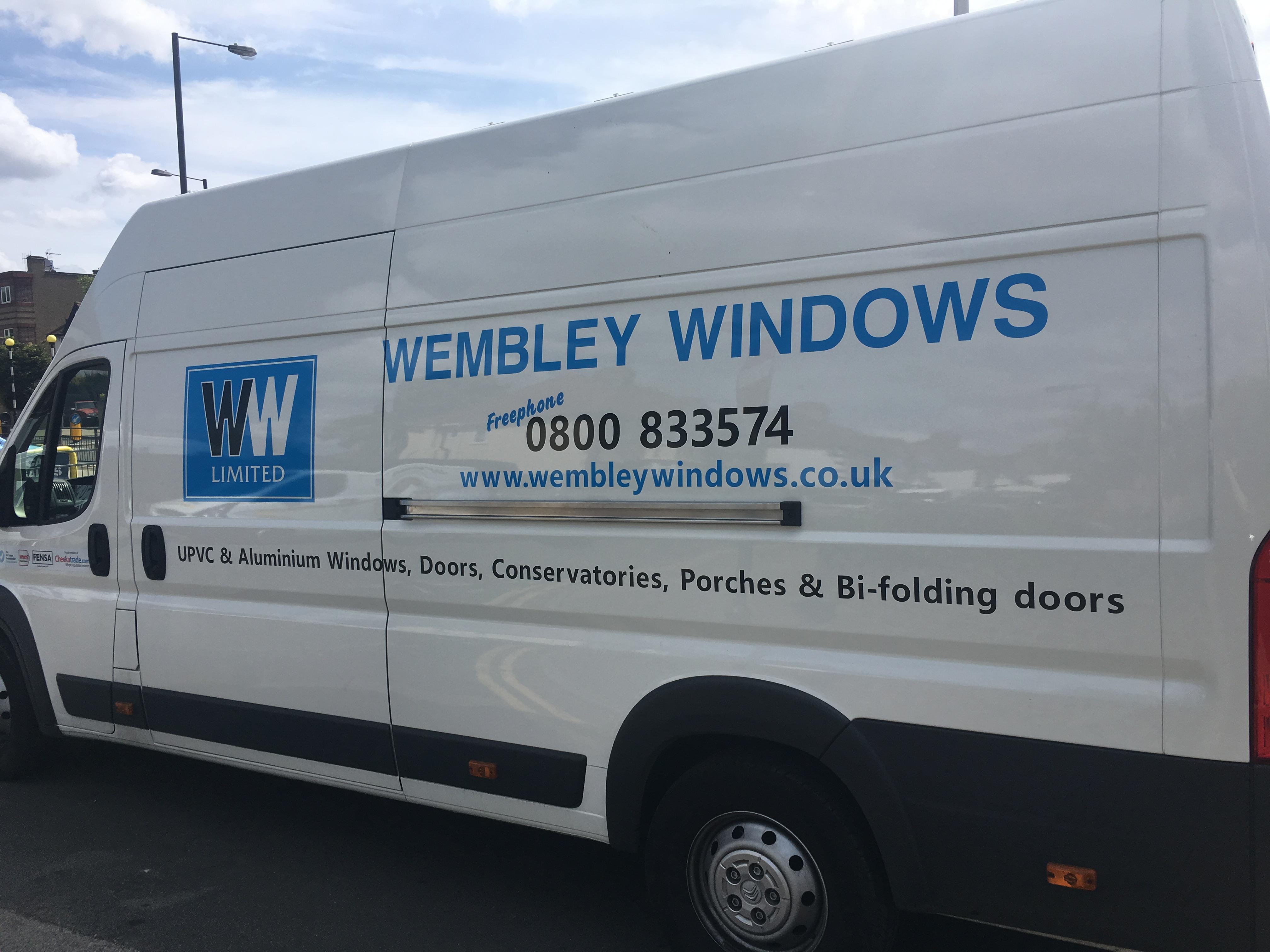 Window Fitter Van Sign Wembley Windows Action Signs