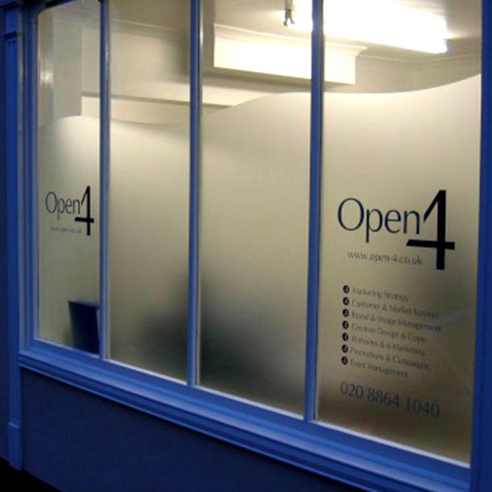 Frosted Window Film Office Partitions Windows Glass Doors