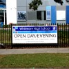 vinyl banners for school open day